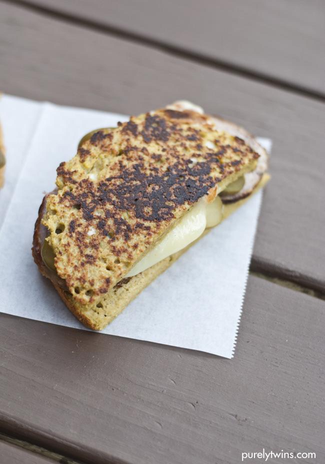healthy ham cheese pickle grain free gluten free sandwich purelytwins