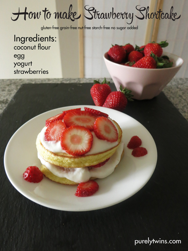 how to make strawberry shortcake made from coconut flour