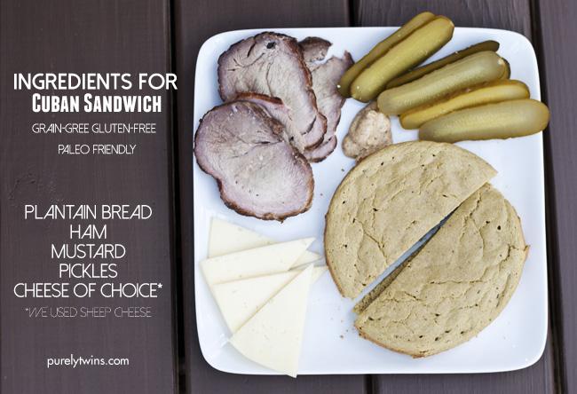 ingredients in making healthy grain free cuban sandwich purelytwins