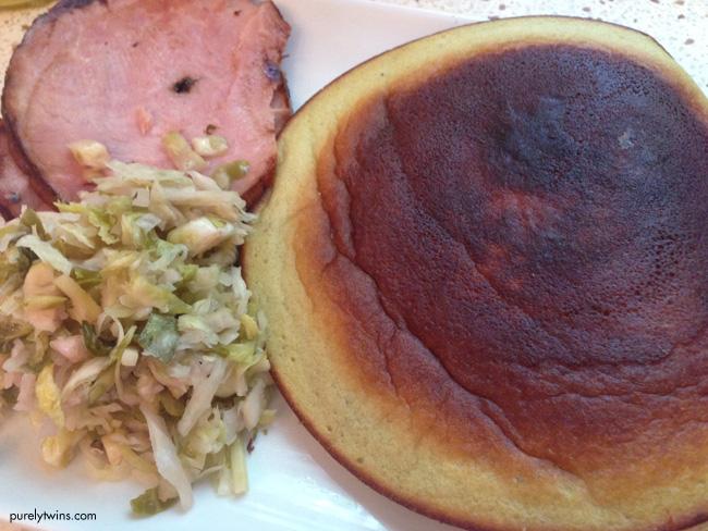 lunch plate pregnancy ham sandwich