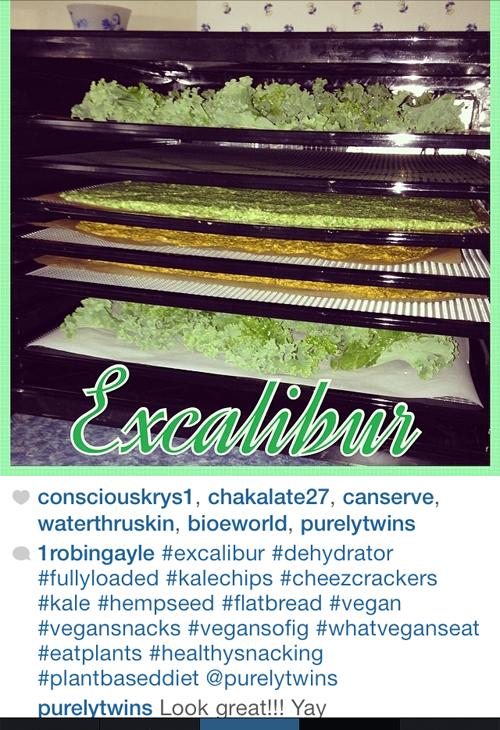 making kale crackers