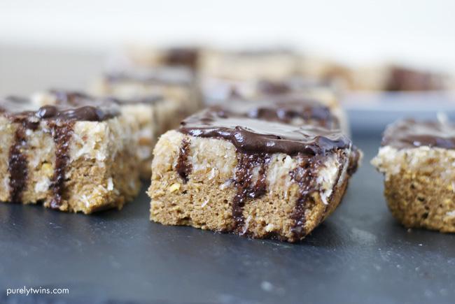 almond butter samoa bars (paleo, vegan)