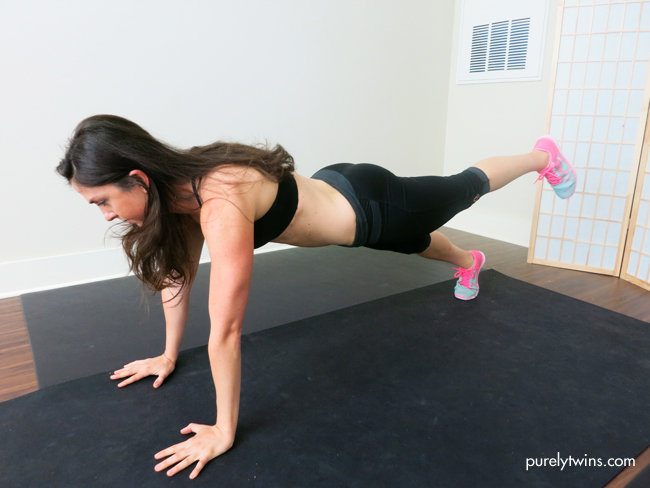 plank butt lift for tight core and butt