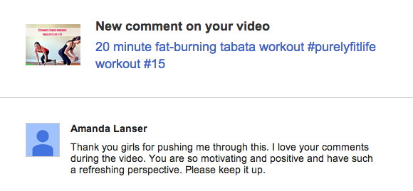 tabata workout shoutout
