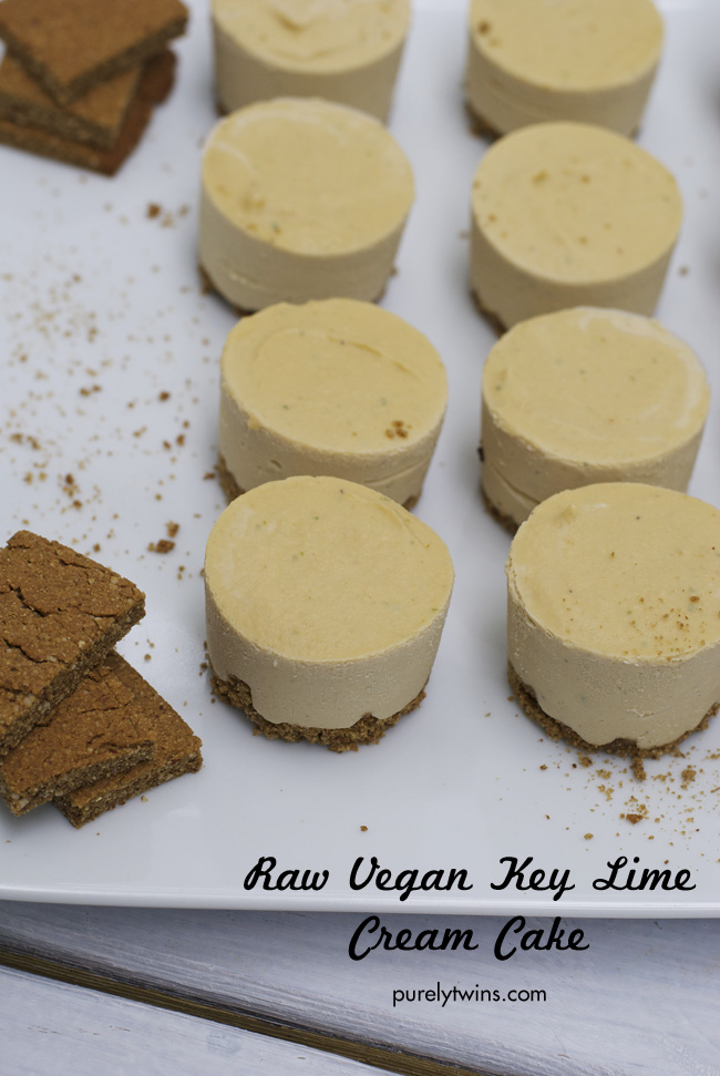 Coconut Lime Cheesecake: No bake, raw, vegan, gluten free, soy free, refined-sugar free. This dessert is so wonderful and refreshing! Simple to make too. Creamy mini key lime cheesecakes are simple to make and have a smooth homemade graham cracker crust.