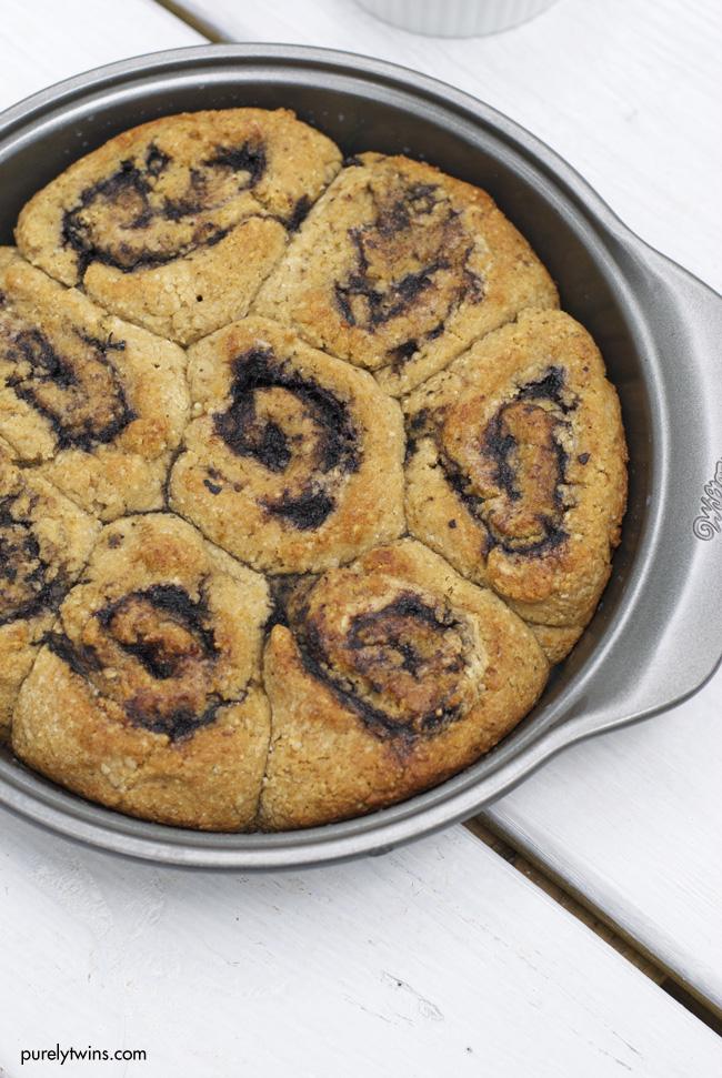 vegan grain free almond butter jelly cinnamon buns gluten free purelytwins