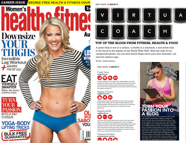 womens health fitness magazine feature purelytwins