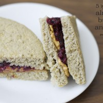 how to make 5 ingredient almond butter & jelly sandwich
