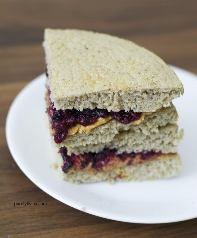 5 ingredient paleo PB&J sandwich
