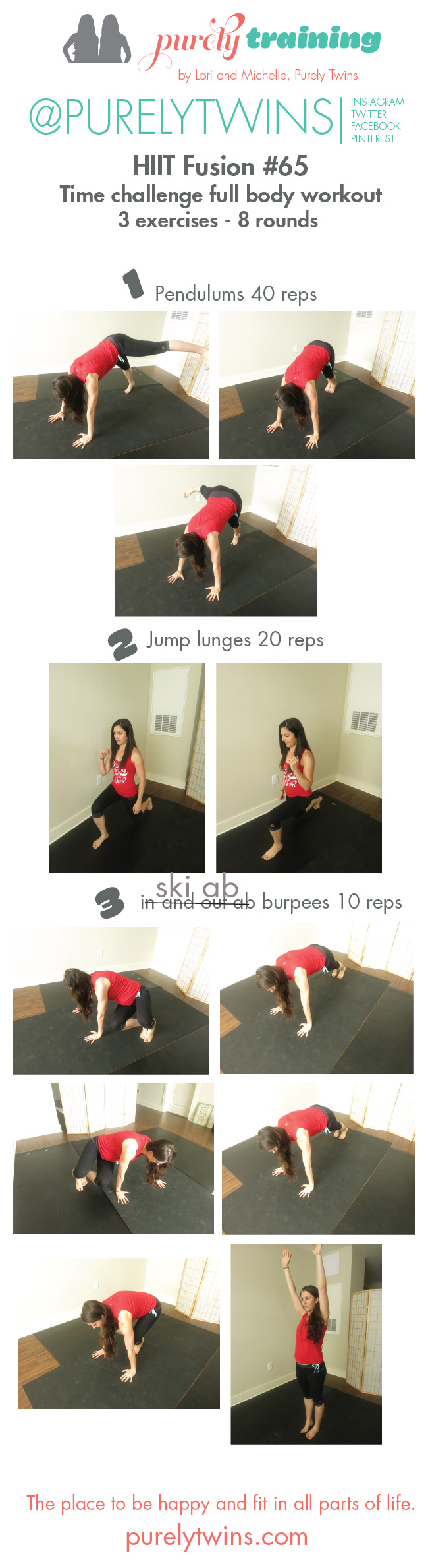 HIIT fusion time challenge bodyweight purely training 65 workout