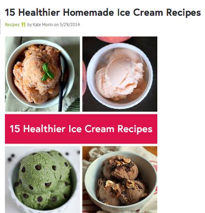 15 healthy ice cream recipes