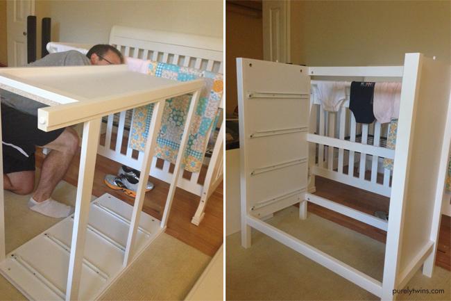 baby dresser being built