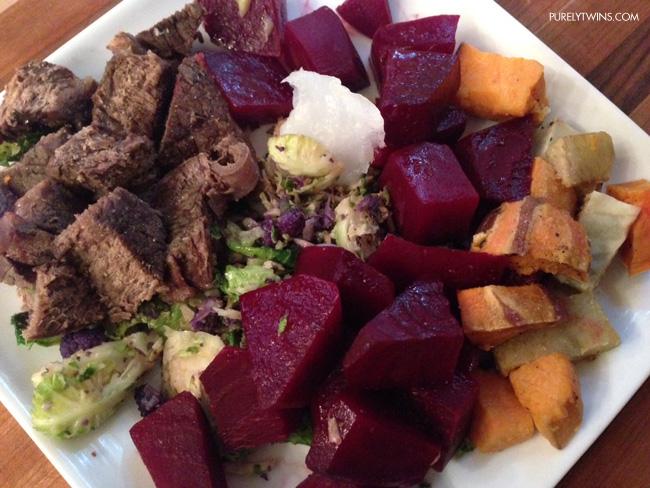 beet beef potato dinner