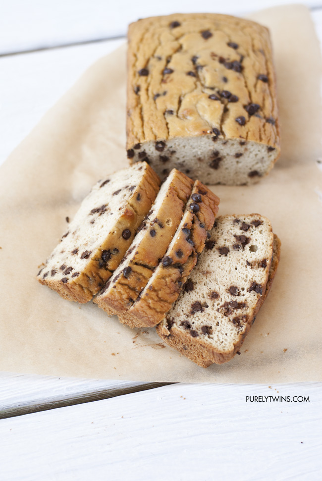 chocolate chip coconut flour paleo bread gluten and grainfree