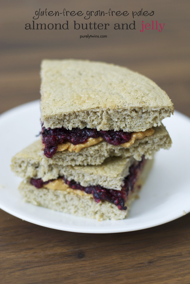 gluten-free grain-free paleo almond butter and jelly