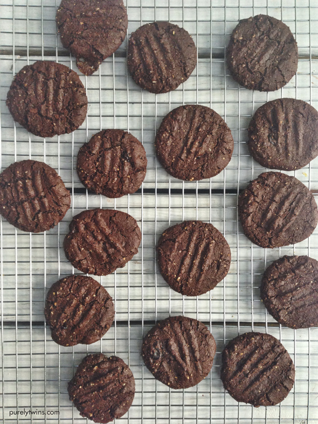 paleo chocolate chewy cookies made with onnit nut butter