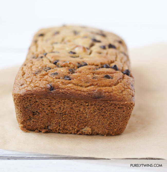 low-carb grain-free chocolate chip cookie bread -