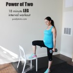 power of two 18 minute leg burning workout purely training #67