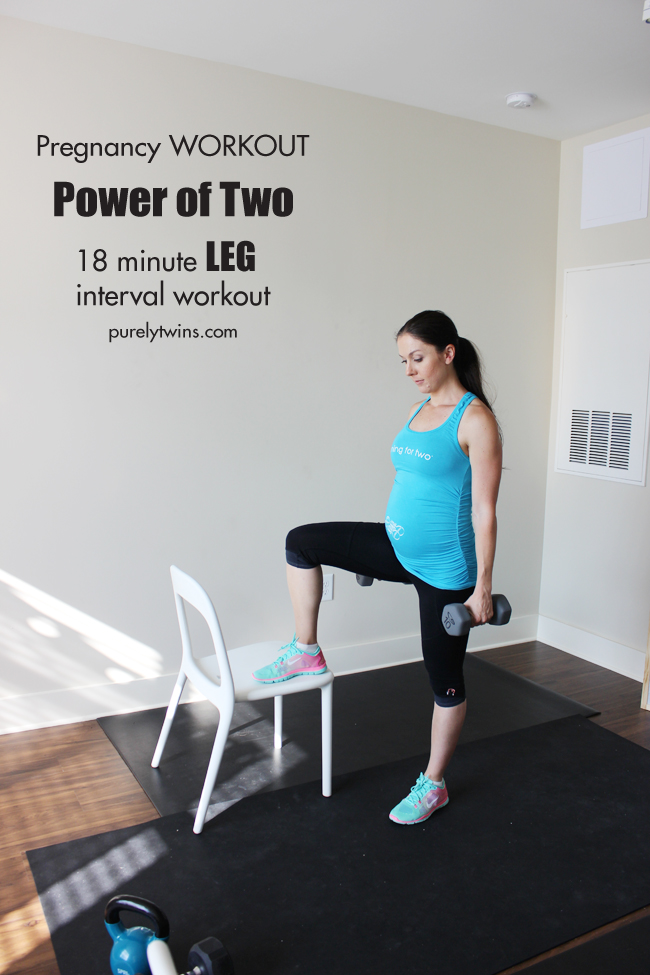 pregnancy workout 18 minute leg interval power of two purelytwins
