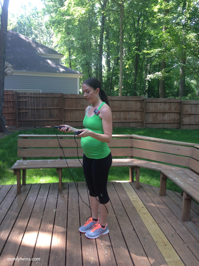 pregnancy workout jump rope purelytwins