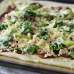 grain-free yeast-free BBQ salmon pizza with homemade BBQ sauce