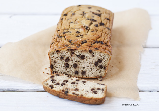 low-carb grain-free chocolate chip bread