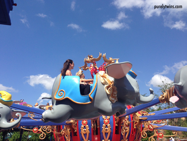 riding the dumbo ride
