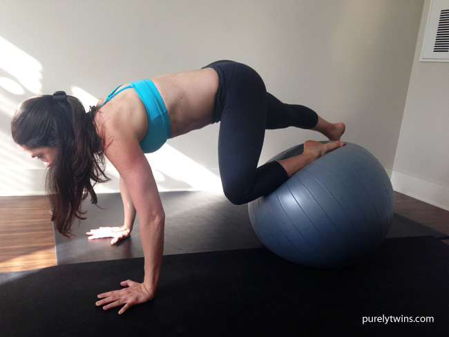 12 minute plank workout using a stability ball PT #68