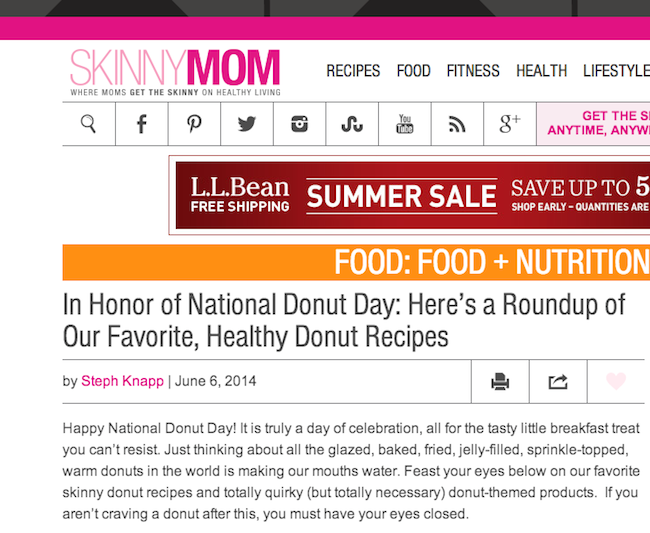skinny mom donut feature