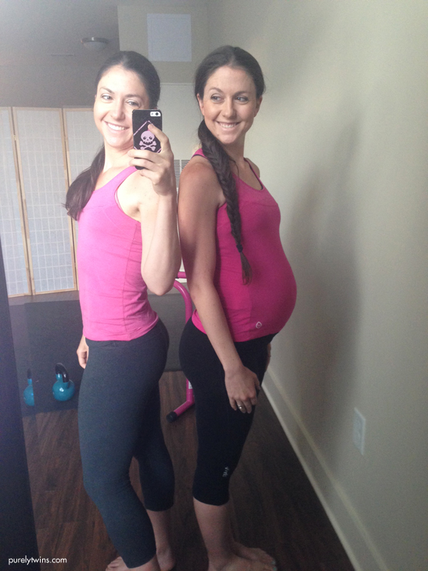twin sisters purelyfitlife pregnancy