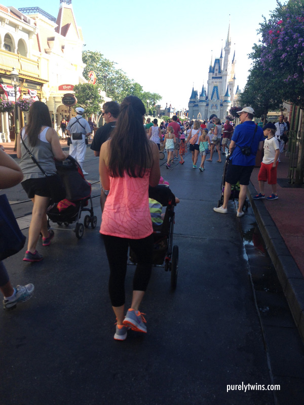walking down main street