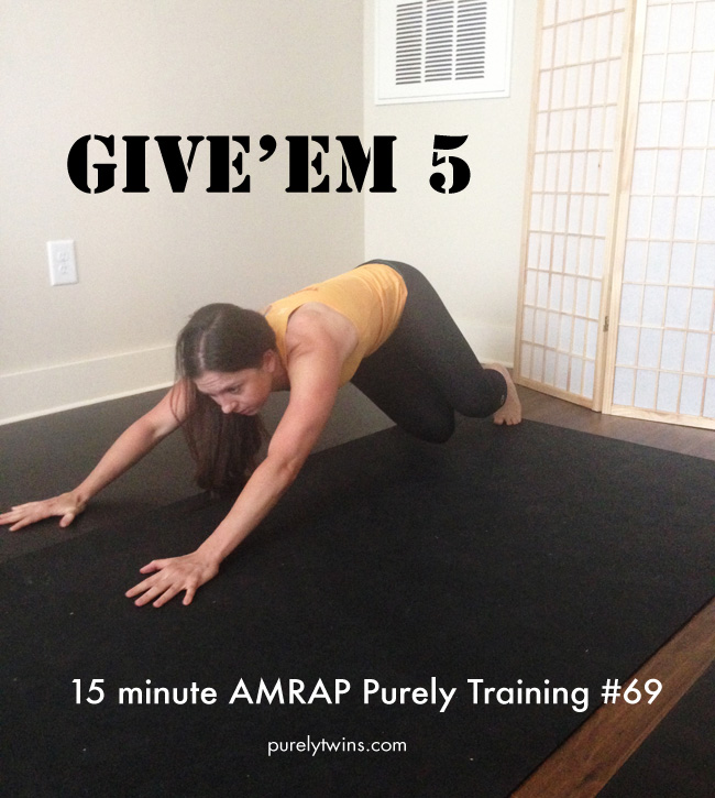 5reps 5 exercises 15 min amrap purely training home workout