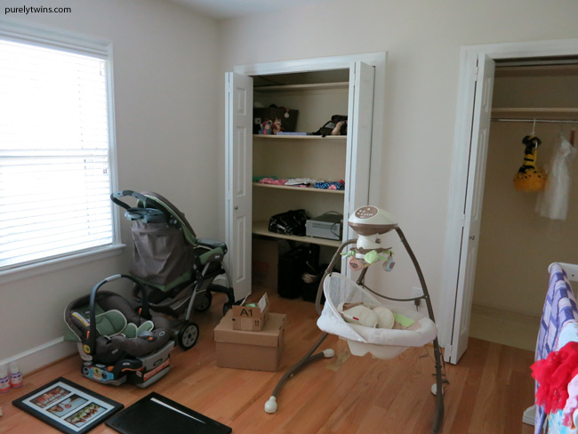 baby swing and stroller