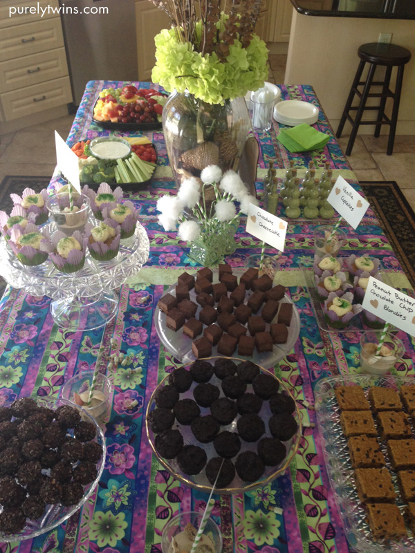 dessert bar at lori shower