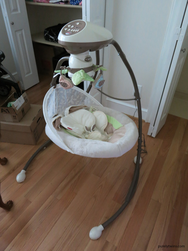fisher price snugapuppy cradle swing for baby nursery