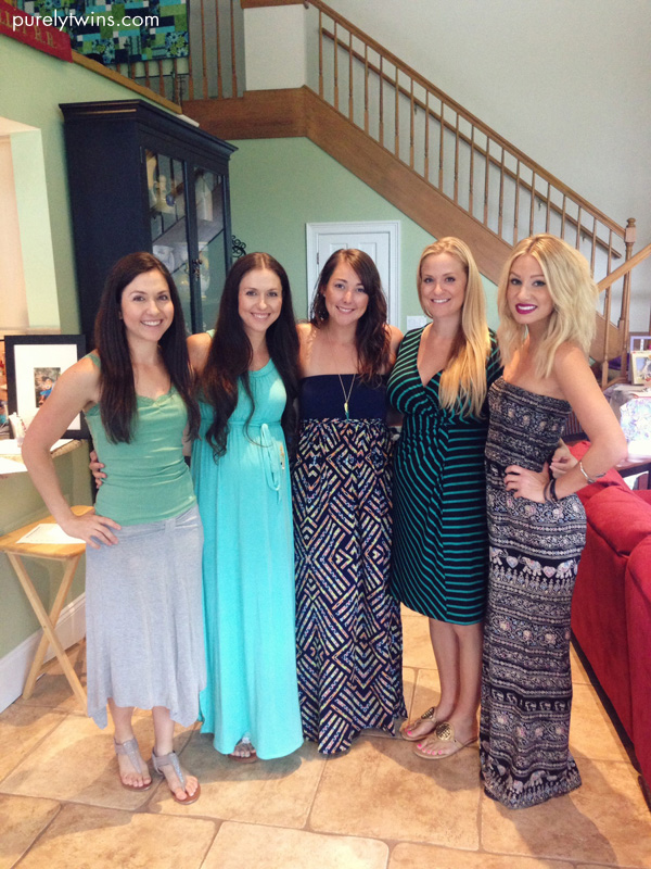 girl friends at baby shower