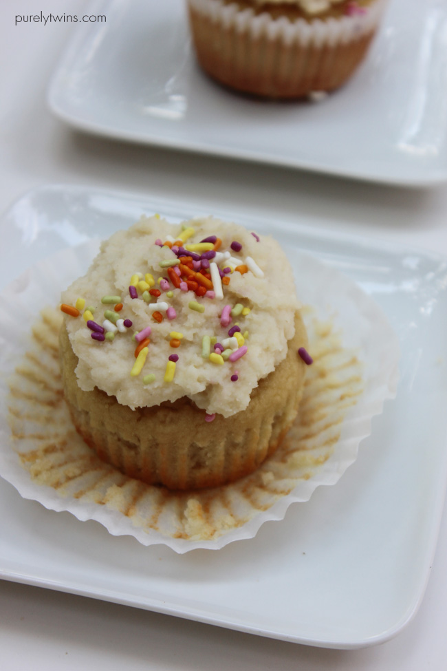 grainfree cupcakes with sprinkles