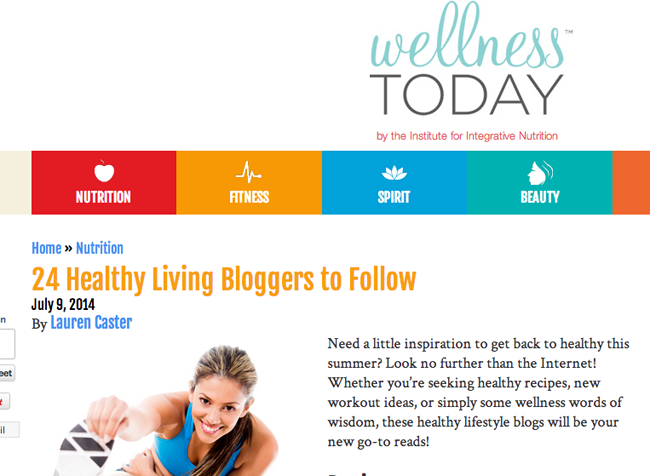 heathly living blog to follow
