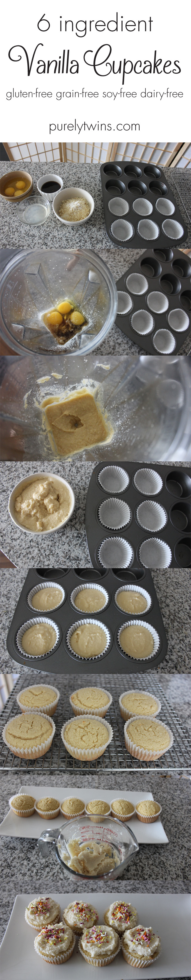 how to make 6 ingredient grainfree glutenfree vanilla cupcakes purelytwins