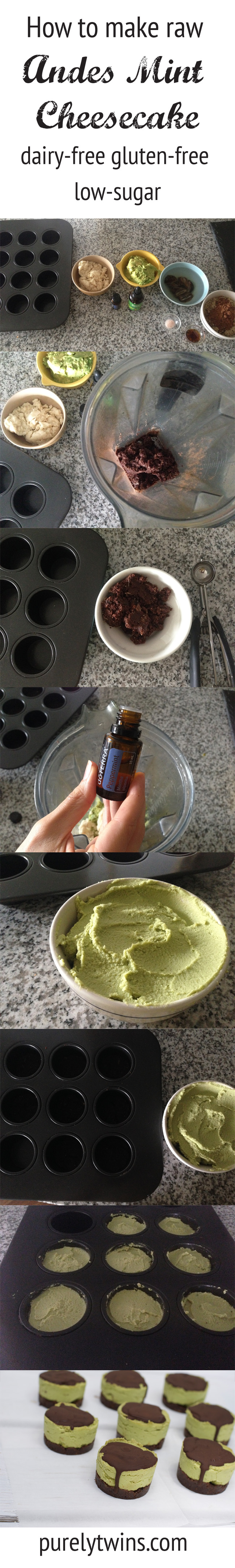 how to make dairy free andes cheesecake recipe with coconut butter avocado peppermint essential oil