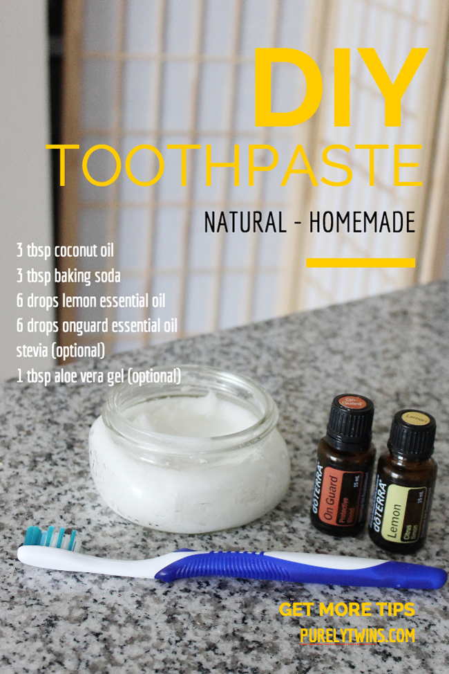 how to make homemade natural toothpaste DIY