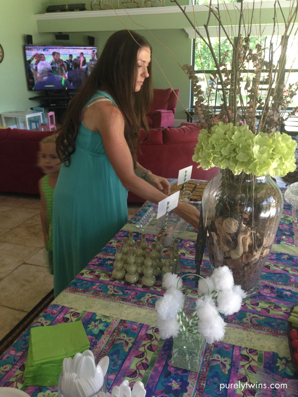 lori getting table ready