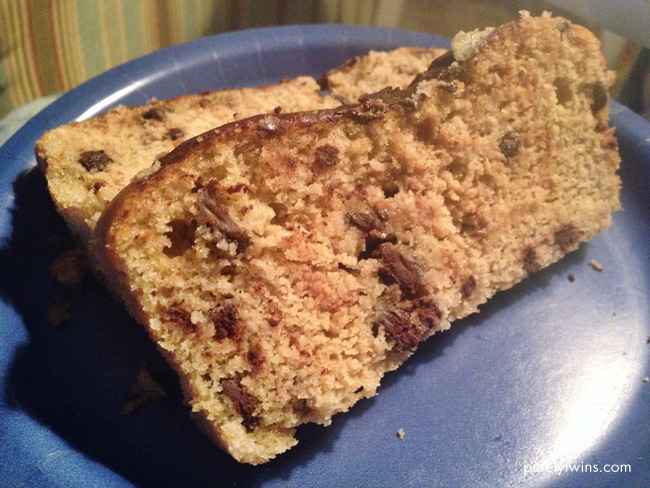 low carb chocolate chip bread