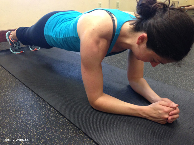 michelle doing planks for abs