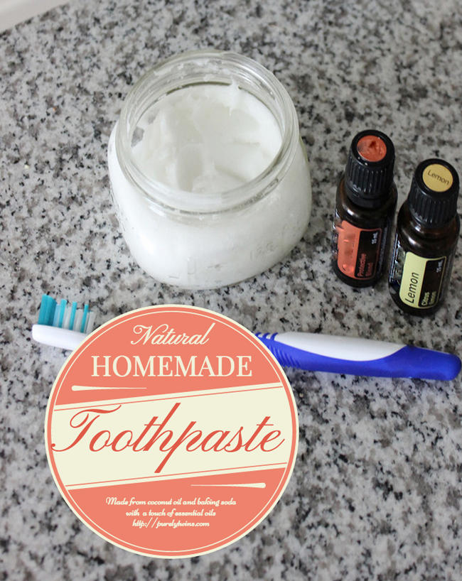 How to make homemade natural toothpaste. All you need is coconut oil baking soda and some essential oils.