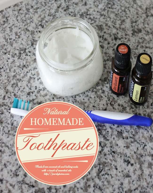 natural homemade toothpaste made from coconut oil and baking soda