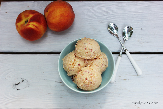 peach dairy free ice cream