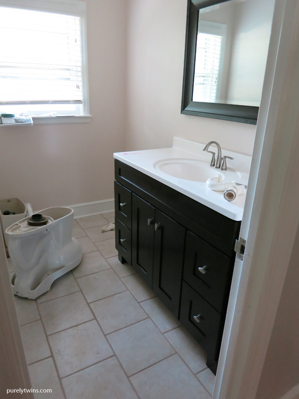 purely twins bathroom renovation update