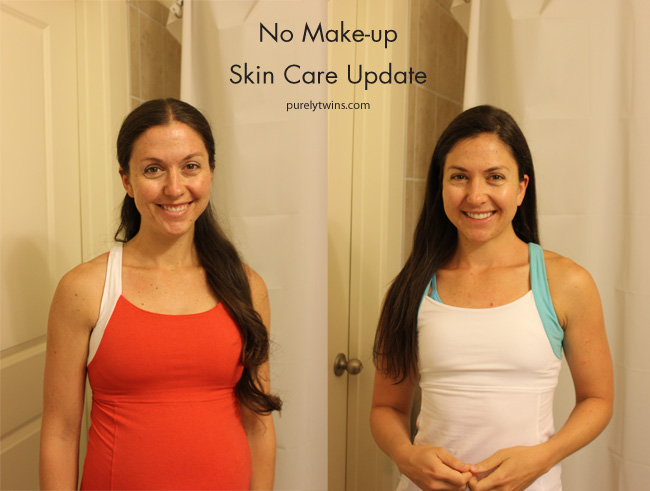 purely twins new face care routine no makeup update