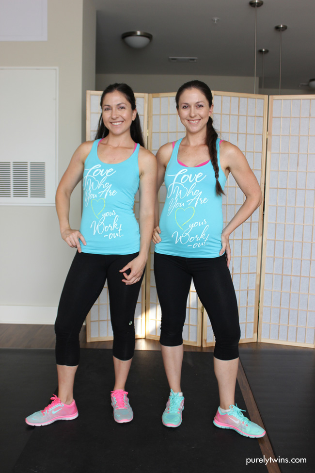 purelytwins workout outfits